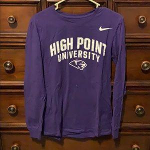 High Point University Long Sleeve Nike Shirt